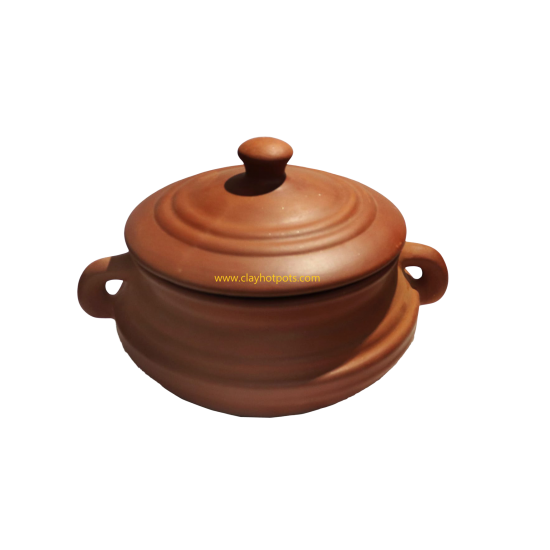 Clay pot for pulses / dals with thick base